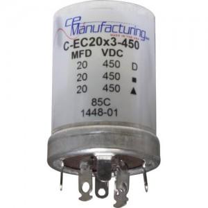 CE MANUFACTURING MFG 450V, 20/20/20µF