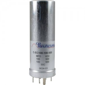 CE MANUFACTURING MFG 500V, 100/100µF