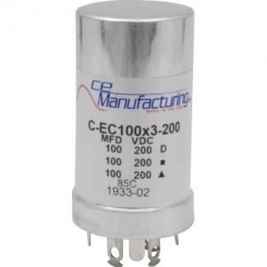 CE MANUFACTURING MFG 200V, 100/100 / 100µF
