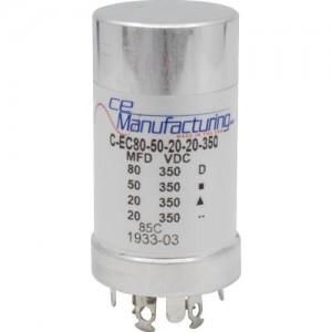 CE MANUFACTURING MFG 350V, 80/50/20 / 20µF
