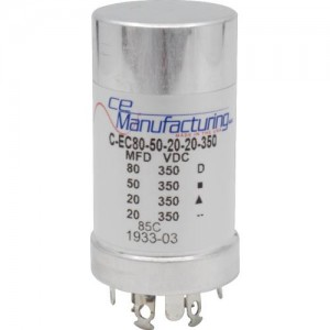 CE MANUFACTURING MFG 350V, 80/50/20/20µF
