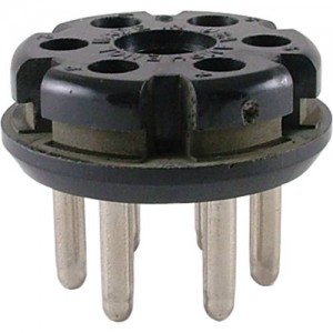 6 PIN MALE PLUG TUBE SOCKET FOR LESLIES
