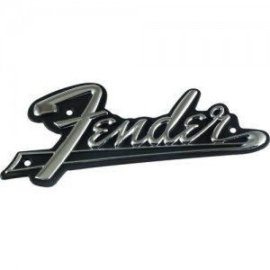 ORIGINAL FENDER LOGO BLACKFACE - SILVER ON BLACK 0994093000