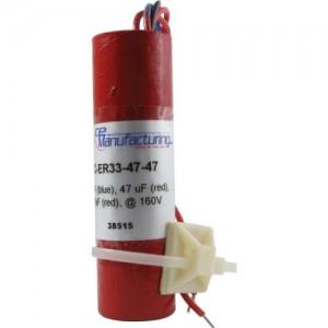 CE MANUFACTURING MFG 160V, 33/33/47 µF