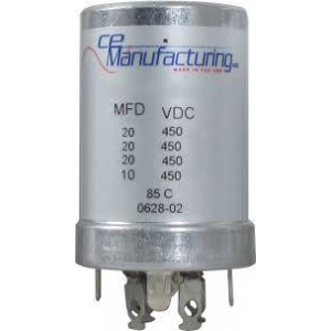 CE MANUFACTURING MFG 450V, 20/20/20/10uF