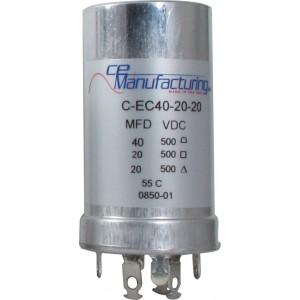 CE MANUFACTURING MFG 500V, 40/20/20uF