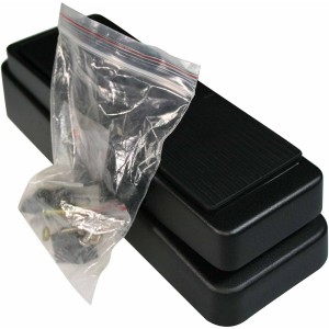 BLACK WAH ENCLOSURE FOR TO BUILD CUSTOM WAH OR VOLUME EFFECT PEDAL
