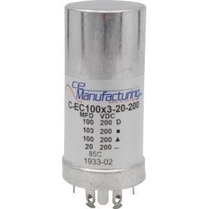 CE MANUFACTURING MFG 200V 100/100/100/20uF CAPACITOR