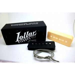 LOLLAR PICKUPS - ALNICO POLE SOAPBAR P-90 F-SPACED BRIDGE