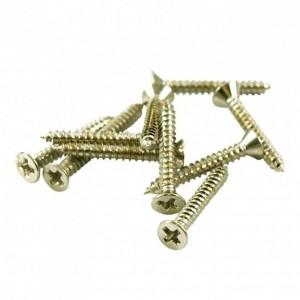 4x NICKEL SHORT HUMBUCKER MOUNTING RING SCREWS FOR NECK POSITION 2 x 5/8 in.