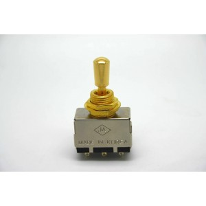 JA KOREA GOLD 3 WAY TOGGLE SWITCH BOX WITH GOLD TIP GIBSON LES PAUL SG TYPE