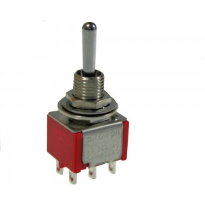 MINI TOGGLE SWITCH DPDT...