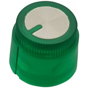 IBANEZ GREEN SILVER KNOB FOR TS9 SERIES EFFECT PEDALS - 15.5mm PUSH-ON