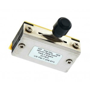 FREEWAY 3B3-01 6 WAY PICKUP SELECTOR SWITCH WITH BLACK TIP CAP FENDER TELECASTER