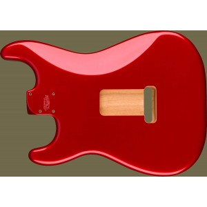 BODY FENDER DELUXE SERIES STRATOCASTER® HSH ALDER BODY 2 POINT BRIDGE MOUNT, CANDY APPLE RED 0997103709
