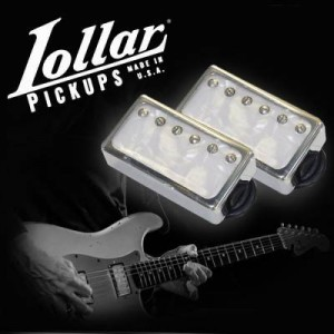 LOLLAR PICKUPS - HUMBUCKER IMPERIAL F-SPACED + STANDARD WIND IMPERIAL CHROM - PEARL MICHAEL LANDAU SET STRATOCASTER