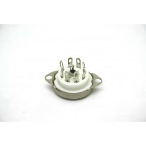 CERAMIC 8 PIN OCTAL MINI TUBE VACUUM SOCKET 25mm TO 30mm HOLE