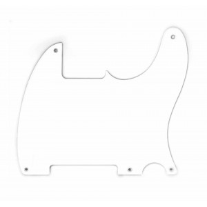 FENDER 50'S ESQUIRE PICKGUARD, WHITE, 1-PLY, 5-HOLE MOUNT 0068214049