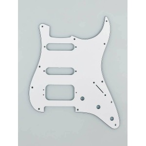 FENDER WHITE, 3-PLY HSS STRATOCASTER PICKGUARD WHITE 11 HOLE 0050671049