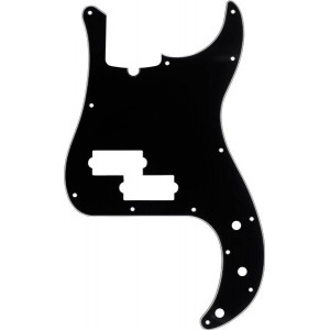 FENDER MODERN-STYLE PRECISION BASS® BLACK PICKGUARD 13-HOLE MULTI-PLY WITH TRUSS ROD NOTCH 3-PLY 0991352000