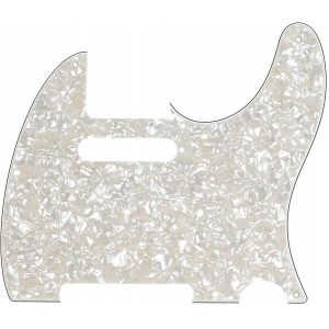 FENDER TELECASTER AGED WHITE PEARL PICKGUARD 8-HOLE MOUNT 4-PLY 0992174000