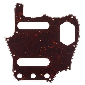 FENDER PURE VINTAGE '65 JAGUAR® PICKGUARD - BROWN SHELL 10 HOLE MOUNT 3-PLY 0094464049