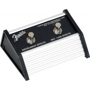 FENDER 2-BUTTON FOOTSWITCH ACOUSTASONIC: EFFECTS ON-OFF (MIC-INST CHANNELS) 0062206000