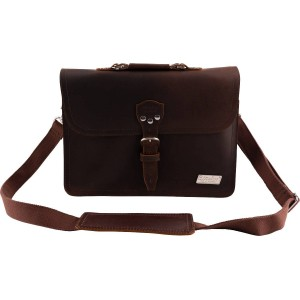 BIGSBY® LIMITED EDITION LEATHER LAPTOP BAG BROWN 1802562100