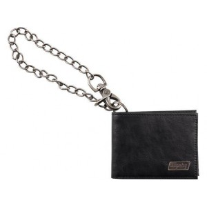 BIGSBY® LIMITED EDITION LEATHER WALLET WITH CHAIN BLACK 1802529100