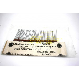 50x ORIGINAL ALLEN BRADLEY 3.3K 3300Ω OHMS 1/4W 0.25W CARBON COMP RESISTORS