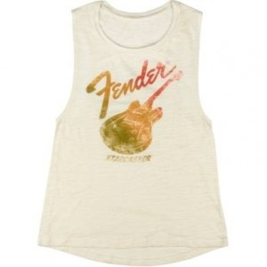 FENDER® STARCASTER WOMEN'S SLEEVELESS T-SHIRT CAMISETA TALLAS S A LA XL 9190121506