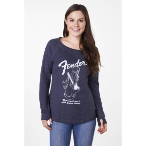 FENDER® MERMAID WOMEN'S LONG SLEEVE NAVY CAMISETA TALLAS S A LA XL 9190145506