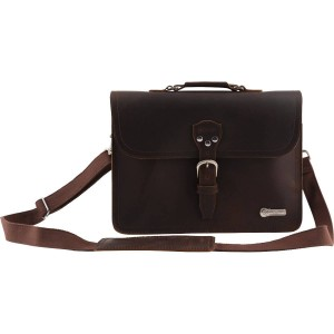 CHARVEL® LIMITED EDITION LEATHER LAPTOP BAG BROWN 9922562100